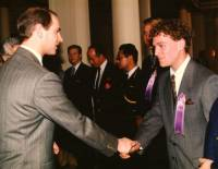 Being presented to HRH Prince Edward for the first time.